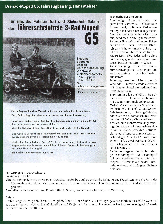 Meister G5 Buchseite